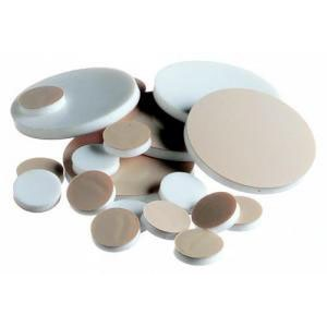 Flat Disc Septa, PTFE-Faced Silicone Rubber