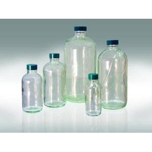 Safety Coated Boston Round Bottles. Qorpak®