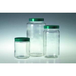 Safety Coated Clear Glass Standard Wide Mouth Bottles With Caps
