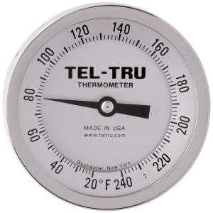 "Dial Thermometers, 3"" Face with 4"" Stem"