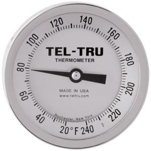 "Dial Thermometers, 3"" Face with 9"" Stem"