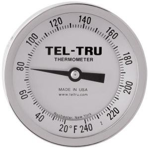 "Dial Thermometers, 3"" Face with 12"" Stem"