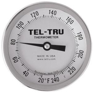 "Bottom Connect Dial Thermometers. 3"" Face with 2-1/2"" Stem"