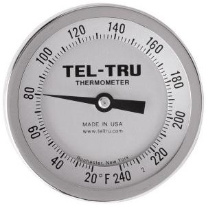 "Bottom Connect Dial Thermometers, 3"" Face with 6"" Stem"
