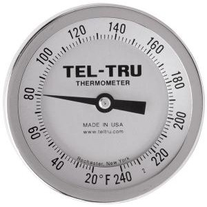 "Bottom Connect Dial Thermometers. 3"" Face with 9"" Stem"